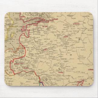 Russie, Pologne, Suede, Norwege, Danemarck en 1840 Mouse Pad