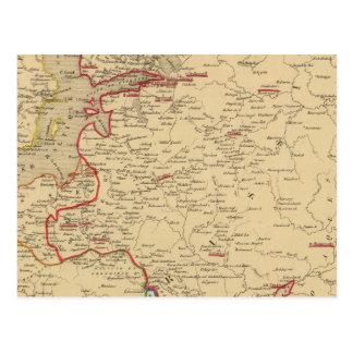 Russie, Pologne, Suede, Norwege, Danemarck en 1840 Postcard