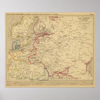 Russie, Pologne, Suede, Norwege, Danemarck en 1840 Poster