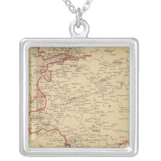 Russie, Pologne, Suede, Norwege, Danemarck en 1840 Silver Plated Necklace