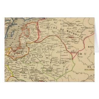 Russie, Pologne, Suede, Norwege, Danemarck Greeting Card