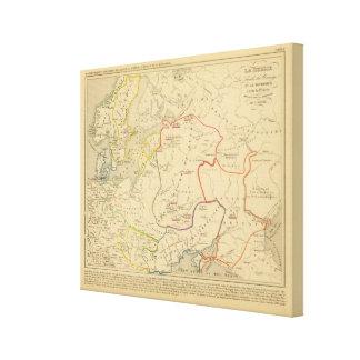 Russie, Suede, Norwege 2 Stretched Canvas Print