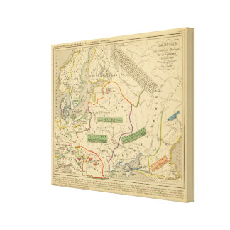 Russie, Suede, Norwege Gallery Wrapped Canvas