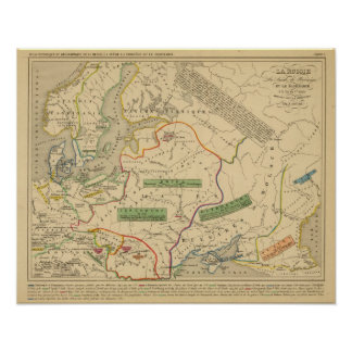 Russie, Suede, Norwege Poster