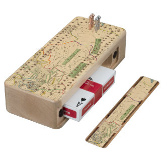 Russie, Suede, Norwege Wood Cribbage Board