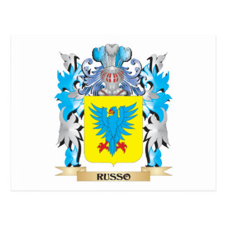 Russo Coat of Arms - Family Crest Postcard