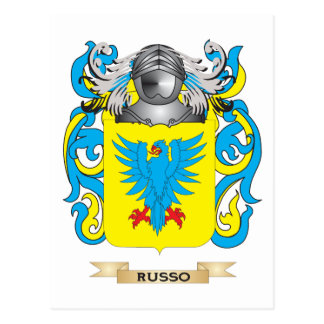 Russo Coat of Arms (Family Crest) Postcard