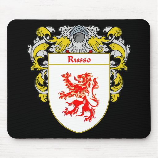 Russo Coat of Arms (Mantled) Mouse Pad