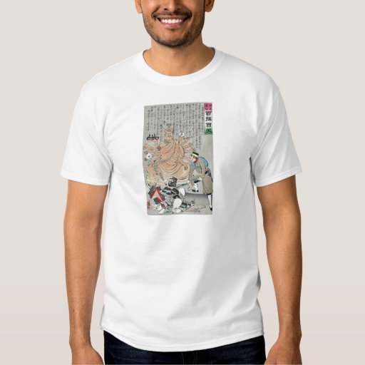 Russo-Japanese War by Kobayashi,Kiyochika Tshirt