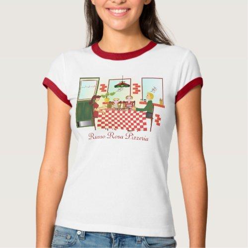 Russo Rosa Pizzeria Ringer T-Shirt
