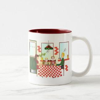 Russo Rosa Pizzeria II Two-Tone Coffee Mug