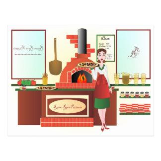 Russo Rosa Pizzeria Postcard
