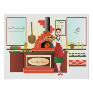 Russo Rosa Pizzeria Poster