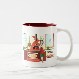 Russo Rosa Pizzeria Two-Tone Coffee Mug