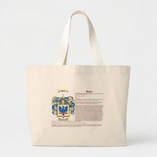 Russo (significado) bolsa tela grande