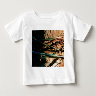Rust and Blue Barbed Wire Baby T-Shirt
