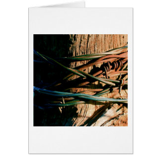 Rust and Blue Barbed Wire Card