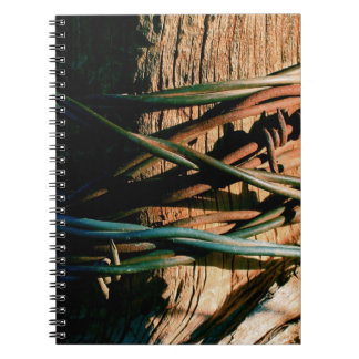 Rust and Blue Barbed Wire Spiral Note Books