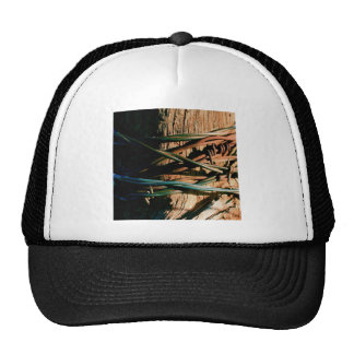Rust and Blue Barbed Wire Trucker Hat