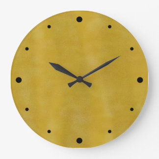 Rust and Gold Simple Design Large Clock