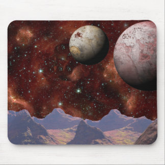 Rust And Gray Alien Worlds Mouse Pad