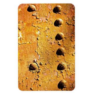 rust and peel rectangular photo magnet