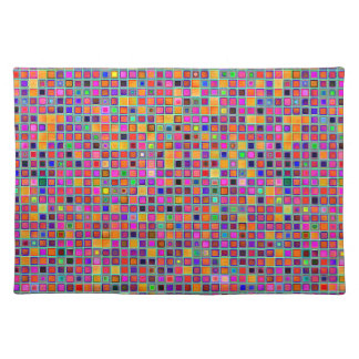 Rust And Purple Rustic 'Clay' Tiles Pattern Place Mat