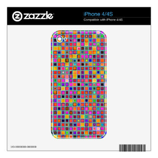 Rust And Purple Rustic 'Clay' Tiles Pattern Decal For iPhone 4S
