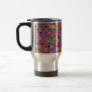 Rust And Purple Rustic 'Clay' Tiles Pattern Travel Mug
