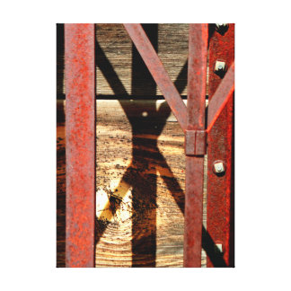 Rust and wood. canvas print