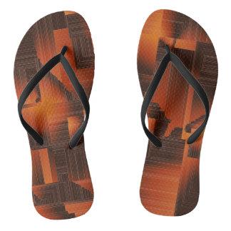 Rust Art Deco Flip Flops