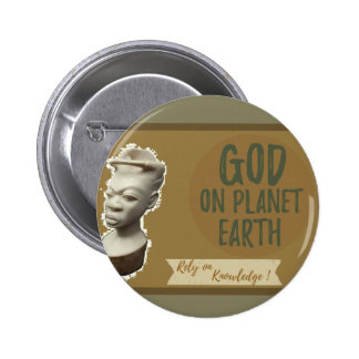 Rust Brown color God on Earth button
