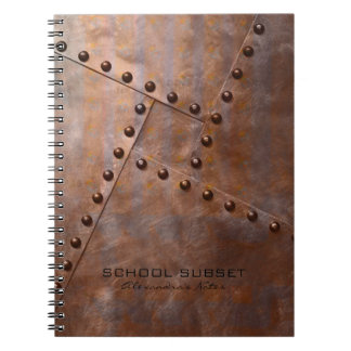 Rust Brown Metallic Design With Rewets Pattern Note Book