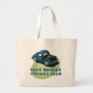 Rust bucket owners club gift, an old blue truck bags