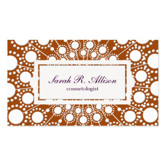 Rust Circle Pattern Beauty Salon Business Card