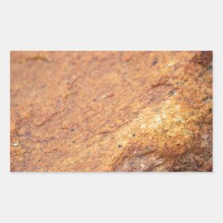 Rust Colored Granite Rock Rectangular Sticker