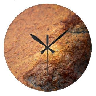 Rust Colored Granite Rock Wall Clock