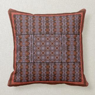 Rust Crisscross Throw Pillow