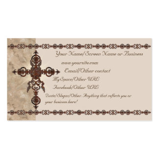 Rust Cross Introduction Card Business Card