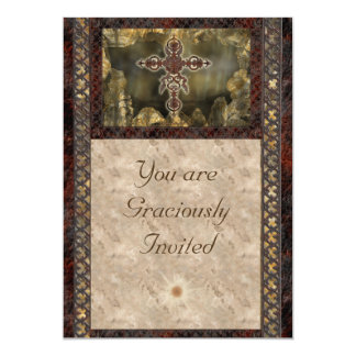 "Rust Cross Invitation Cards 5"" X 7"" Invitation Card"