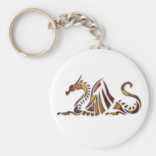 Rust Dragon Keychain