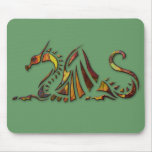 Rust Dragon Mouse Pad