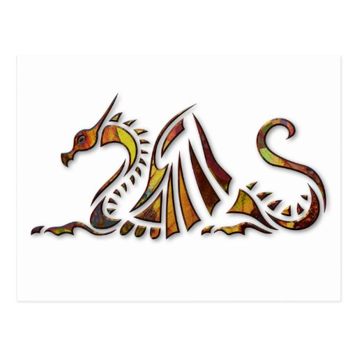 Rust Dragon Post Card