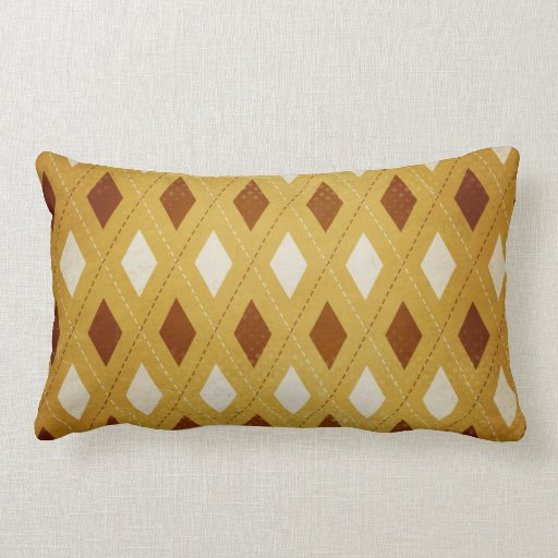 Throw Pillows Cream : Rust, Gold, Cream Argyle Throw Pillow Zazzle