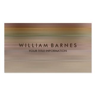 Rust Green Tan Stripe Business Card