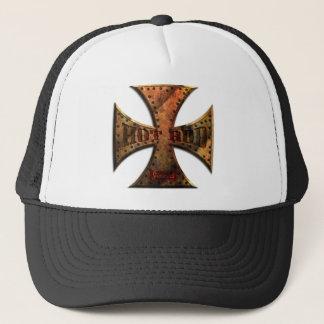 RUST-MALT-CROSS-FLAT-001 TRUCKER HAT