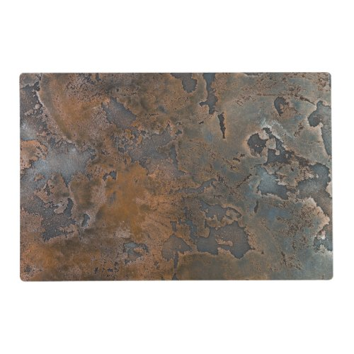 Rust metal plate paper placemat