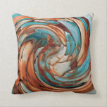 "Rust N Blue Abstract Art Throw Pillow<br><div class=""desc"">Rusty Bronze and Turquoise Blue Abstract Art Throw Pillow</div>"