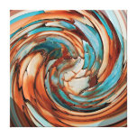 Rust N Teal Abstract Dolphin vs Eagle Canvas Canvas Prints
