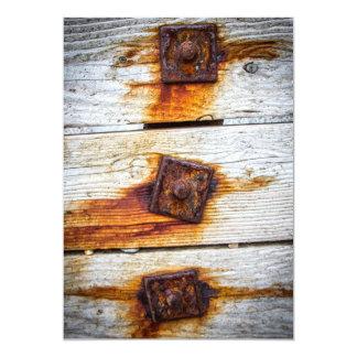 Rust on Wood Invitation